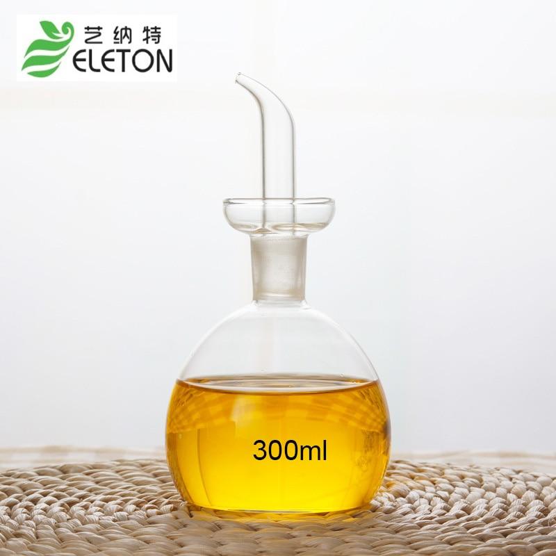ELETON 300ml Medium eco friendly oil and vinegar bottle cruet glass oil bottle olive oil bottles