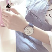 Cokolwiek ja spóźniony jakkolwiek twórczy zegarki prosty ulica rekreacja kobiety kwarcowy skórzany zegarek charakterystyczny Panie Fashion godziny tanie tanio A1420 Shock Resistant Water Resistant Quartz Skórzane Okrągłe 10mm 3Bar Papieru Hardlex Fashion Casual Klamra 24cm