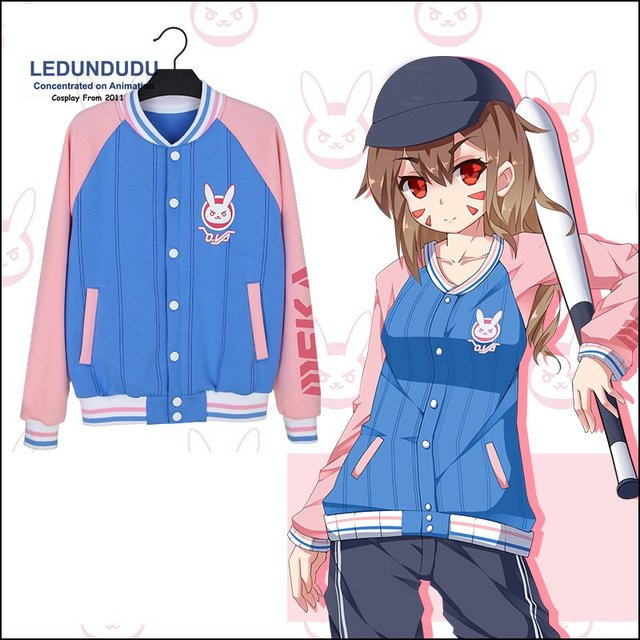 fashion games dva cosplay costumes dva women cute jackets fancy party valvet hoody halloween - Halloween Fashion Games