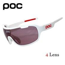 Poc óculos de sol polarizados 2017 óculos de ciclismo 4 lente polarizada  homens estrada esporte mtb mountain bike óculos eyewear 0f4dbf3fe0