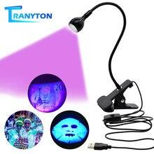 LED klips masa lambası şarj edilebilir USB Led esnek masa lambaları nakit tıbbi ürün dedektörü UV jel kür işık DIY tırnak sanat