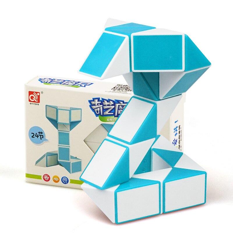 QIYI 24 Segments Magic Rule Snake Fidge Cube Variety DIY Elastic Changed Popular Twist Transformable Kid Puzzle Toy For Children
