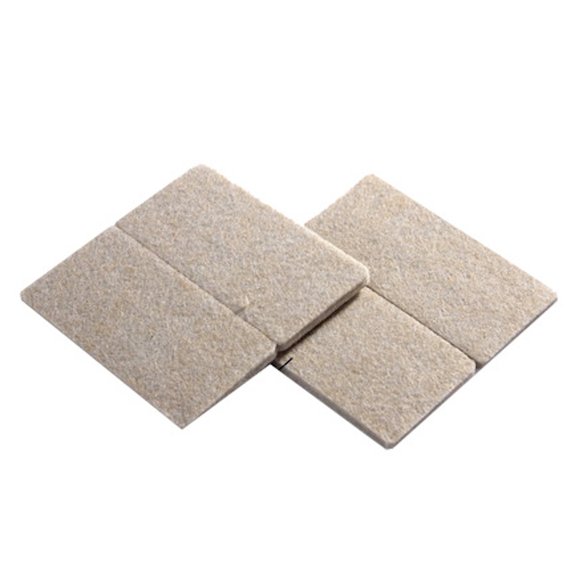 84*42mm 4x Floor Furniture Protection Abrasion Shock Wear Proof Cushion Legs Felt Pads Protector Gasket Brown Beige