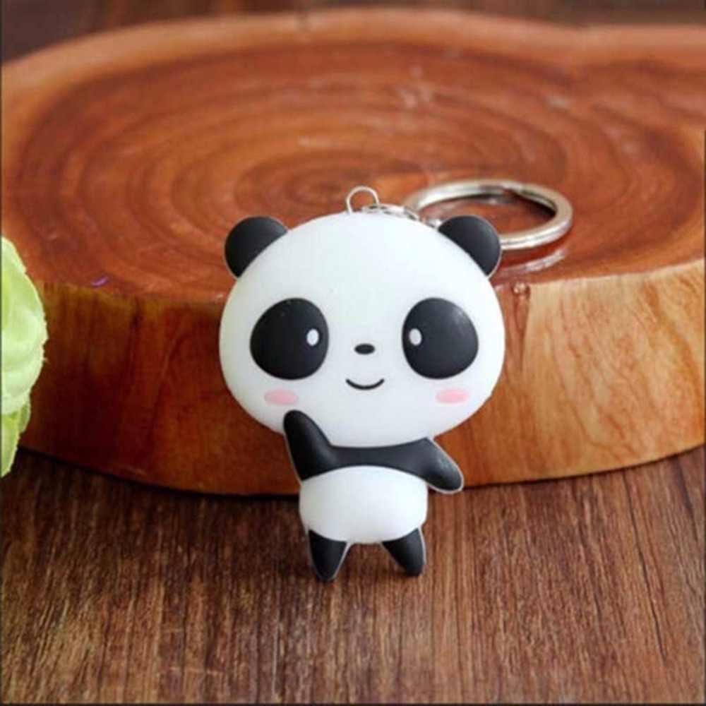 Creative การ์ตูนน่ารักพวงกุญแจโลหะเครื่องประดับสัตว์ Panda พวงกุญแจผู้หญิงเครื่องประดับเครื่องประดับกระเป๋าของขวัญ