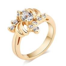 MxGxFam модные кольца золотого цвета для девочек и женщин, повседневная одежда, 18kgoldplated AAA+ кубический циркон