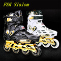 Advanced FSK Slalom Inline Skates Shoes with 85A PU Wheel ABEC-9 Breathable Outdoor Sports Equipment Skating Shoes Size 36 to 44