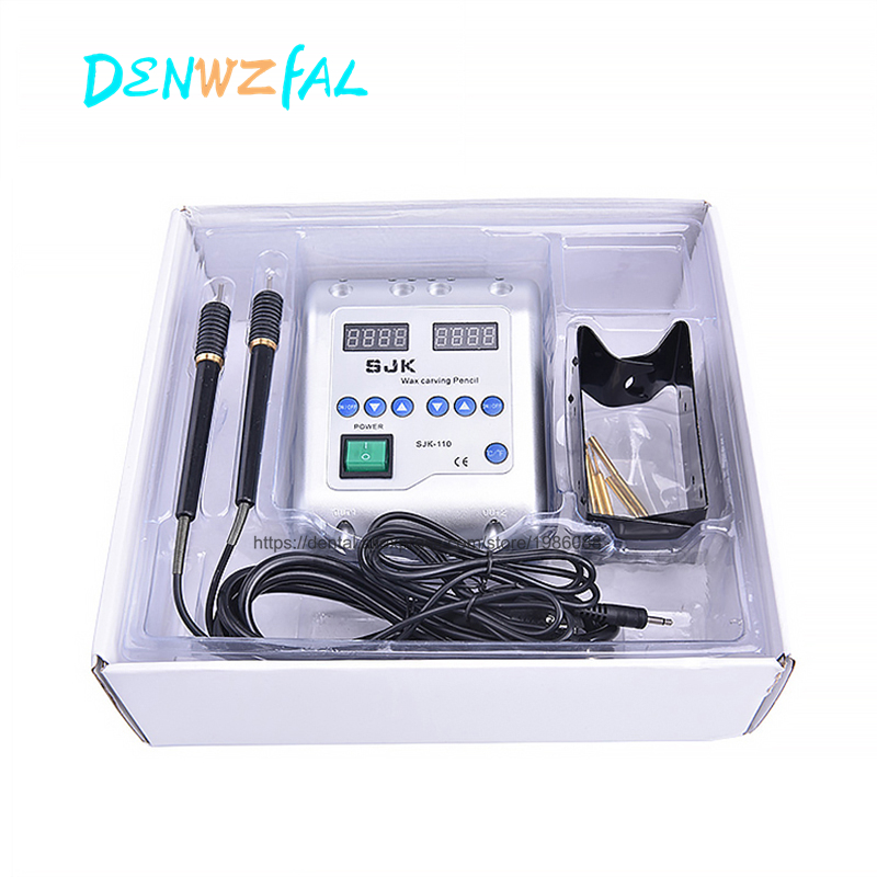 Electric Waxer Carving knife Machine Double Pen 6 Wax Tip for Dental Lab