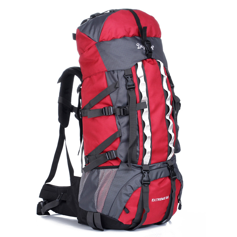 80L Professional Outdoor Climbing Backpacks Waterproof Travel Bag Trekking Camping Hiking Packs Mountaineering Sport Back CB101G camping hiking bag outdoor climbing backpacks waterproof nylon travel sport mountaineering bags zipper hiking backpack 80l