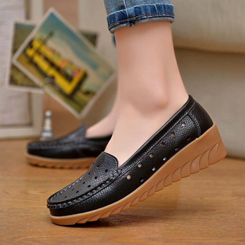 Zapatos de Los Planos 100% GenuineLeather ULKNN individuales Ocasionales Planos