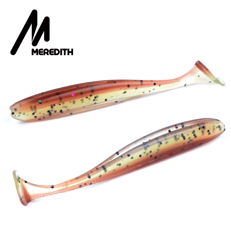 Meredith Easy Shiner Soft Lures 5cm 0.88g 20pcs/lot Swimbaits Artificial Soft Bait Fish Wobblers Double Color Carp Fishing Lures meredith 13cm 11 5g 4pcs wobblers fishing lures easy shiner swimbaits silicone soft bait double color carp artificial soft lure