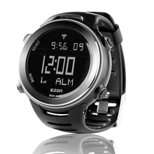 цены EZON Radio Wave Calibrate Time Digital Men Sports Watch Outdoor Casual Running Swimming Waterproof 50m Wristwatch Montre Homme