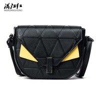 New Small Women Leather Handbags Women Famous Brands Designer Fashion Little Monster Women Leather Handbags Shoulder