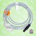 Compatible with Novametrix  Pulse Oximeter,Spo2 sensor adapte cable,7pin to DB9F.