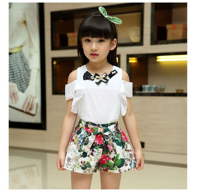 Children's clothing female child 2016 summer child clothes child summer casual twinset baby kids girls sets hot slae