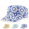 Spring Summer Autumn and Winter Flower Korean Peaked Cap Lady Outdoors Flat Army Navy Hats