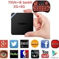 T95N 10pcs 2g 8g/2g 16g Tv Box Android 6.0 Amlogic S905X CPU Mali-450 GPU 3D WiFi Fully Load Streaming Media Player