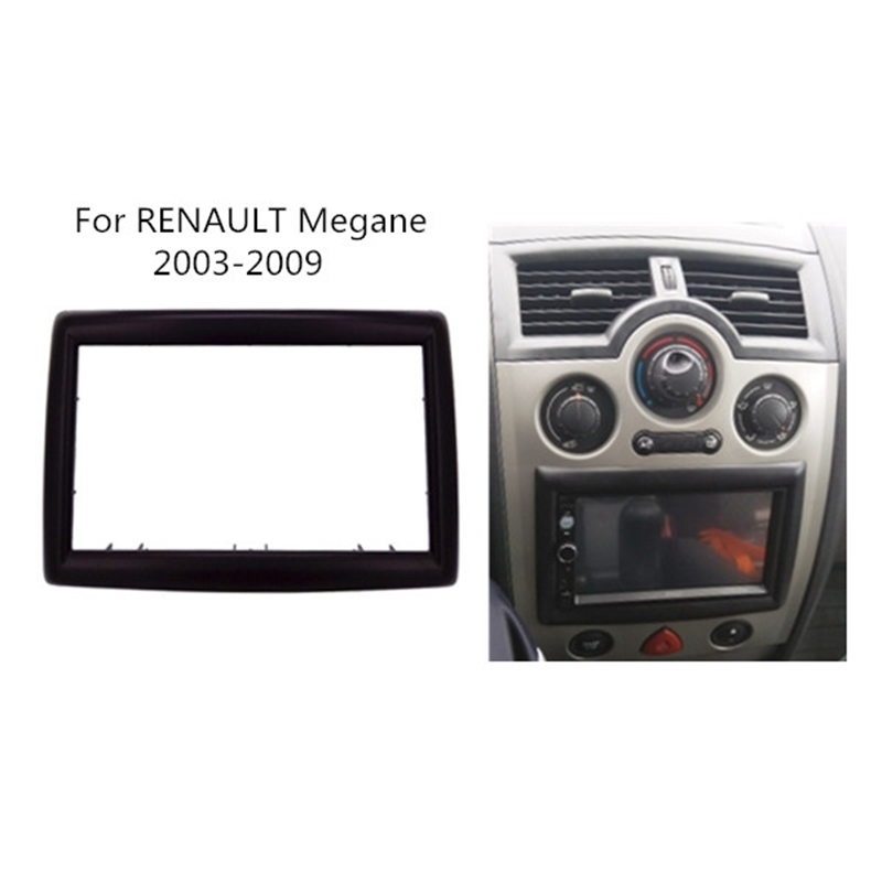 2 DIN Adapter CD Trim Panel Stereo Interface Radio Car Frame Panel Fascia for RENAULT Megane II 2003 2009 2Din-in Fascias from Automobiles & Motorcycles
