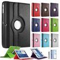 Для Samsung Galaxy Tab 3 10.1 10,1-дюймовый P5200 P5210 P5220 Tablet Кожа PU Case Обложка 360 Вращающийся Смарт Стенд Экран протектор