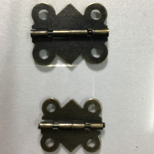 Cabinet Door Hinge 4 Holes Butterfly Antique Bronze Tone,20pcs(China)