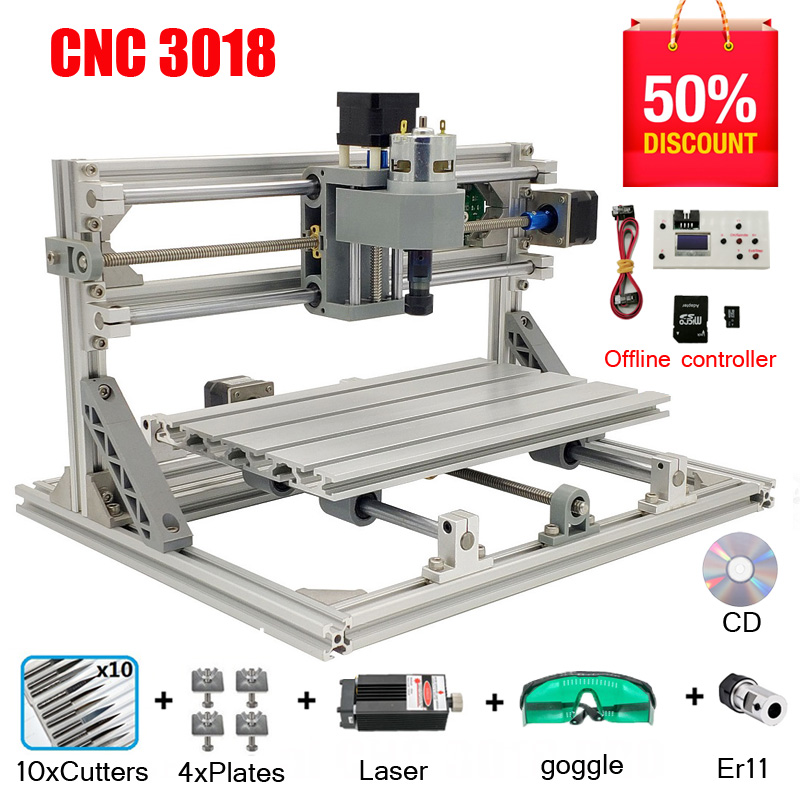 12V Mini 5500mW 65*55cm Blue CNC Laser Engraving Machine