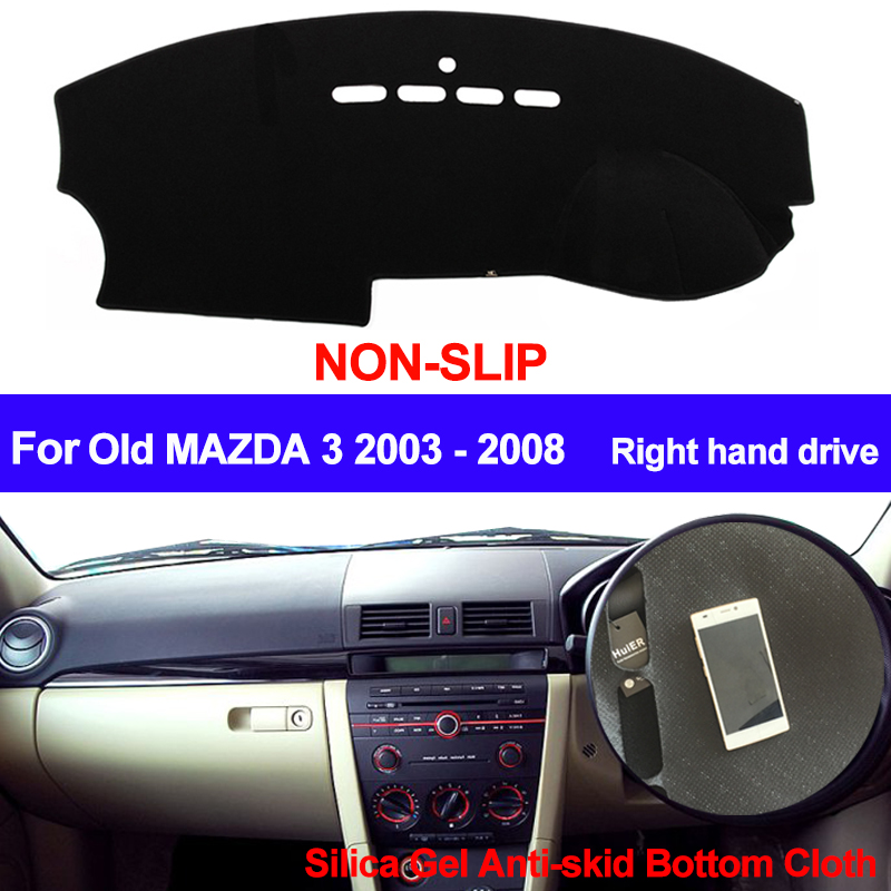 TAIJS RHD For Old Mazda 3 2003 2004 2005 2006 2007 2008 Dashboard Cover Auto DashMat Silicone Non-Slip Sun Shade Dash Board Pad