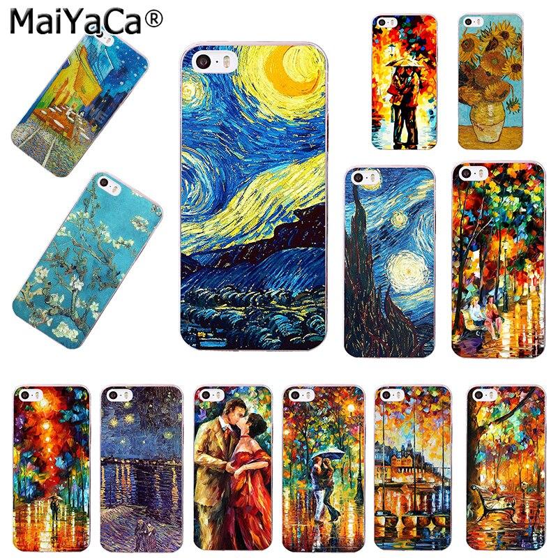 MaiYaCa Van Gogh Sternenklare Nacht Tardis Transparent Coque Abdeckung Fall für iPhone...