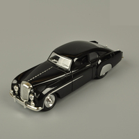 1 28 Retro Bentley Chemu Car Model Alloy Pull Back Flashing Classic Vintage Collective Car Toy