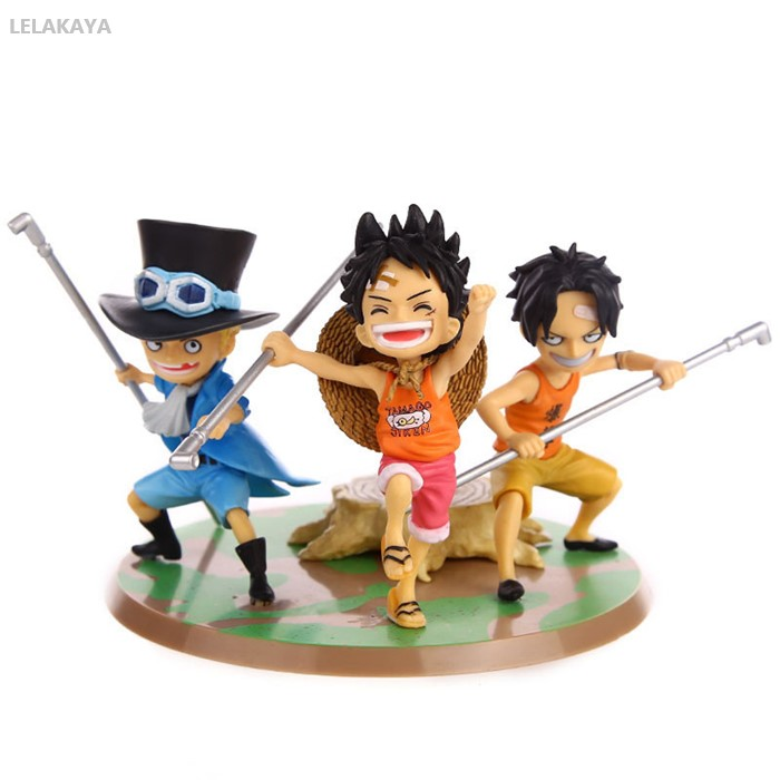 3 pz/set ONE PIECE Rufy Ace Sabo Brothers Ver PVC Model Collection Figurine Regalo di Bambola di Marca Nuovo Anime Action Figure giocattoli 9 centimetri3 pz/set ONE PIECE Rufy Ace Sabo Brothers Ver PVC Model Collection Figurine Regalo di Bambola di Marca Nuovo Anime Action Figure giocattoli 9 centimetri