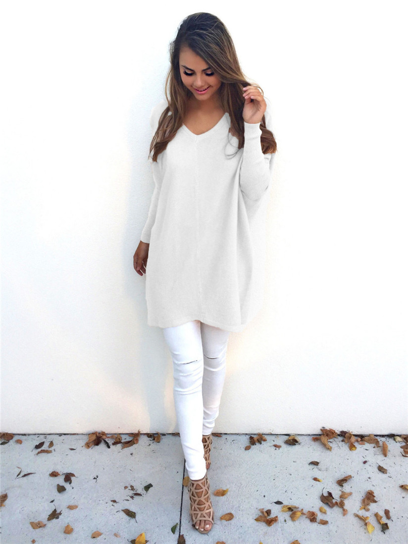 Aliexpress.com : Buy Hot Women Winter White Sweater Long Sleeve ...