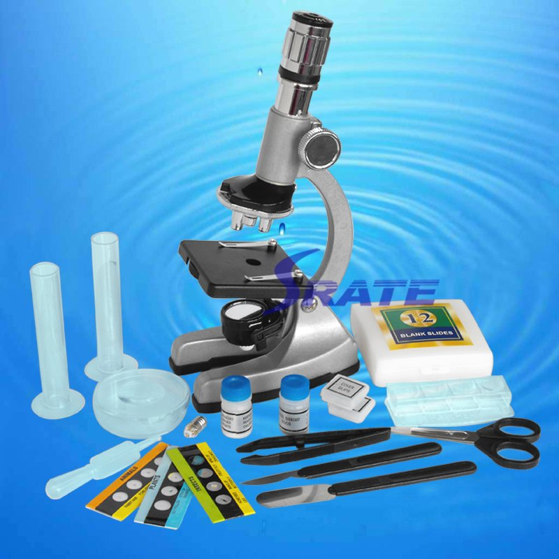 Birthday Gift Illuminated 1200X Zoom Metal Monocular Biological Microscope Beginner Kids Children Student Educational Microscope wild lust анальная пробка 4 см черно зеленая с заячьим хвостом