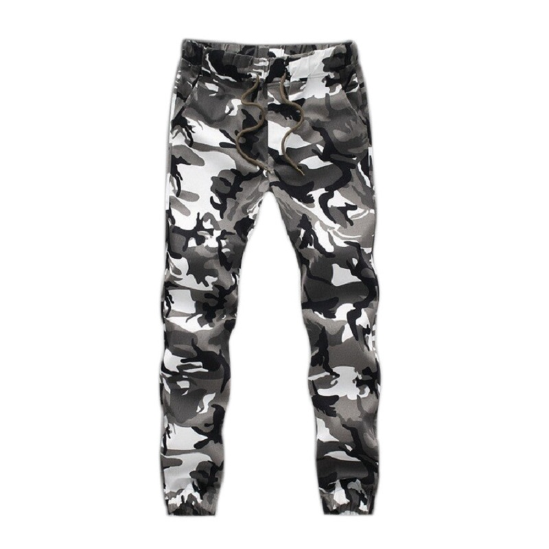 2017 Camouflage Tactical Pants Mens Joggers Camo Pants Mens Sweatpants Army Slim Fit Skinny Trousers Male
