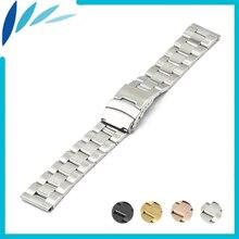Acier inoxydable bande de montre 18mm 20mm 22mm 24mm pour orient sécurité fermoir Sangle Boucle Ceinture Bracelet Noir Rose Or Argent + Outil