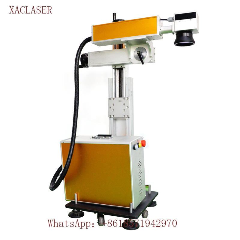 high speed Line Flying Laser Wire Marking Machine for Plastic Bottle carton box