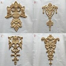 Estilo europeu de madeira carving mobiliário porta móveis decalques decalques flor decoração moderna (A757)