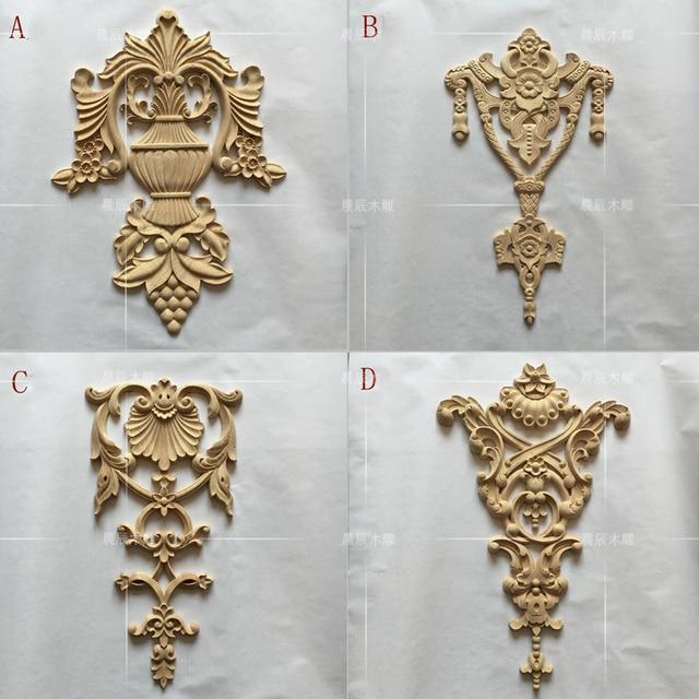 European Style Wooden Carving Furniture Door Decals Furniture Decals Flower  Modern Decoration(A757)