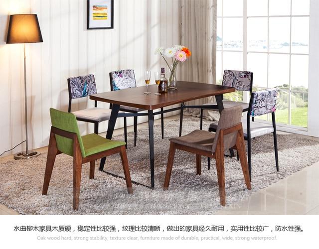 Barato Retro hierro mesa de comedor pequeño apartamento minimalista ...