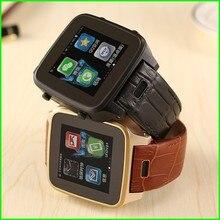 2015 neue Wasserdichte S8 Smart Uhr, MTK6572 Uhr Telefon mit SIM slot WiFi GSM Kamera, leder Handgelenk Smartwatch Excellet Geschenk