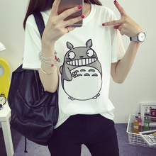 Totoro Printed T-Shirt Women Summer 2016 Fashion Short Sleeves Famale T Shirt Punk Tops Casual Funny Couple Clothes
