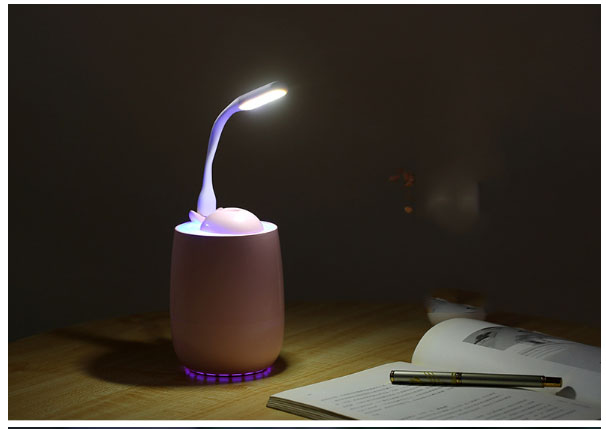 加湿器オフィスデスクトップ usb 加湿器ホームミニ夜の光 3in1 ドライの証明停電 2 レベル 300 ミリリットル
