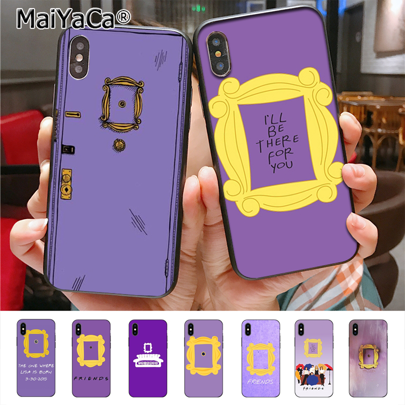 MaiYaCa friends tv series door Adorable Colored Drawing Phone Case for Apple iPhone 8 7 6 6S Plus X XS XR XS MAX 5 SE 5C cass image