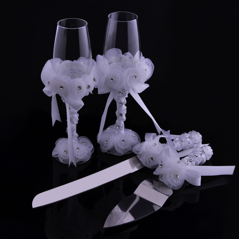 Cake Knife And Cake Decorations