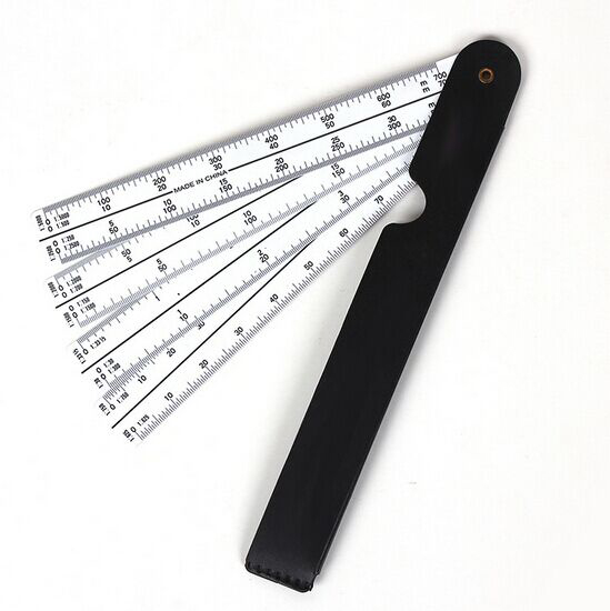 Plastic Straight Plotting Scale Ruler Measuring Clothing Grading Ruler Engineering Drawing For Designer 20cm DM015