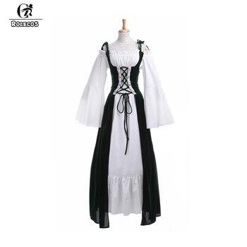 ROLECOS New Arrival Medieval Renaissance Women Costumes Victorian Long Dresses Retro Vintage Women Dress for Beer Festival 1