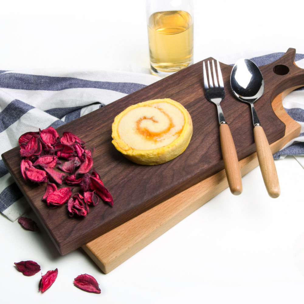 Durable Wooden Cutting Board For Kitchen Chopping Block Wood Cake Plate Serving Trays Bread Fruit Pizza Meat Tray Kitchen Tools