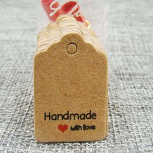 Jewelry Kraft Hang Tag DIY Hande Made with Love Tag Hand Made Tag For Gift Packing