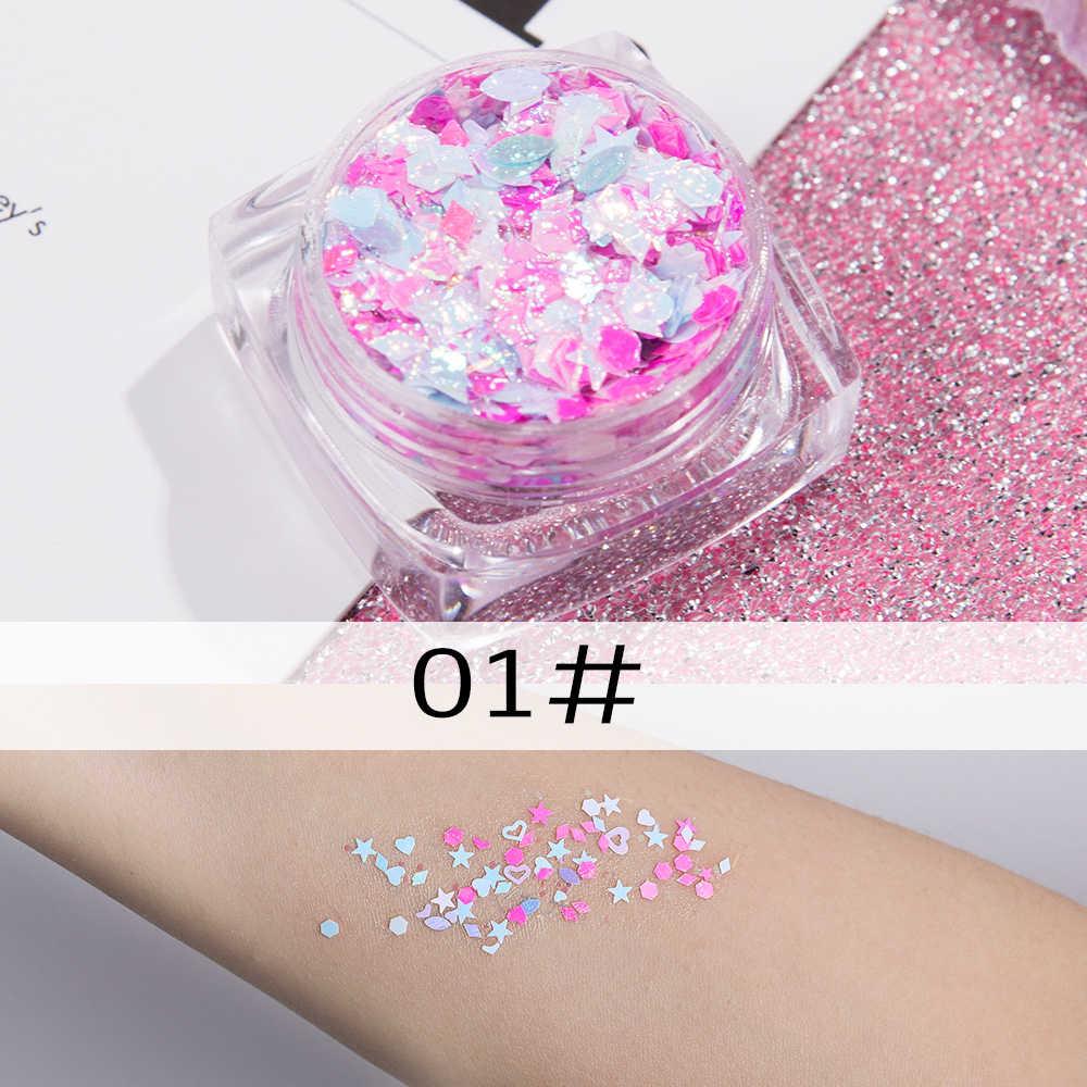26 colores purpurina sombra de ojos polvo arcoíris oro plata Rosa escama resistente al agua maquillaje de cara gel de seúqins AM082