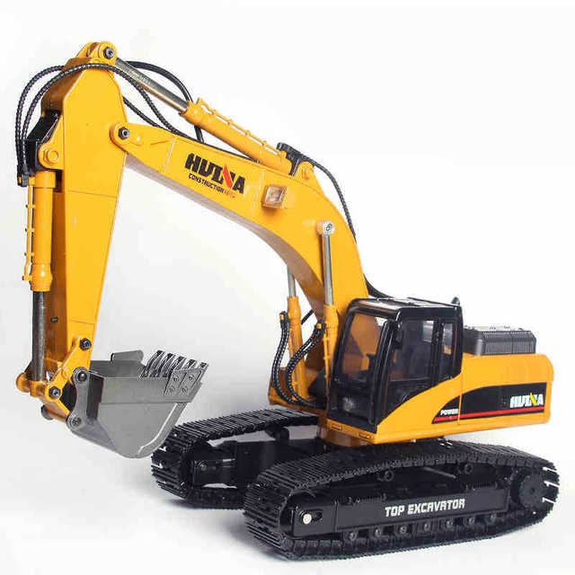 2019 Brand New Toys 15 Channel 2.4G 1/14 RC Excavator Charging RC Car With Battery RC Alloy Excavator RTR For kids 2