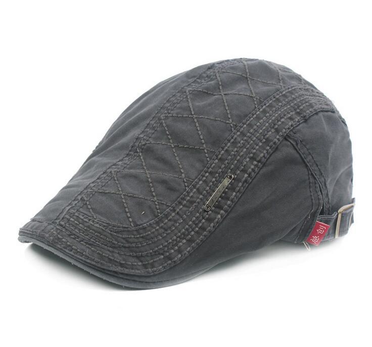 Adult Unisex Beret Adjustable Solid Color Caps Duckbill geometry Design Newsboy Hat for Men Woman S-025