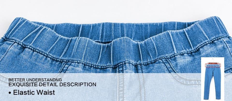 Women Jeans Plus Size Casual high waist summer Autumn Pant Slim Stretch Cotton Denim Trousers for woman Blue black 4xl 5xl 6xl 17