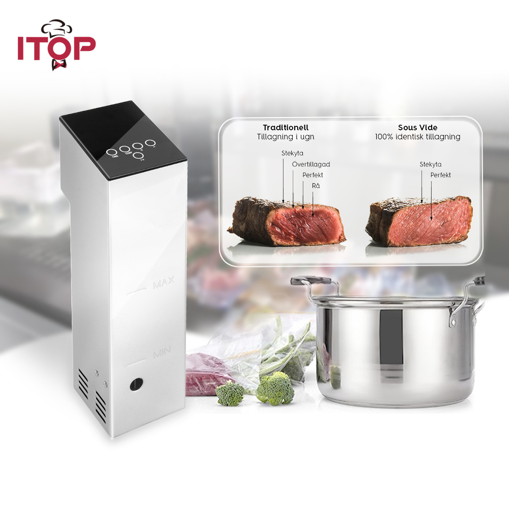 ITOP 110V 220V Sous Vide Circulator Precision Thermal Immersion time Temp Control Chef Cooker itop 110v 220v sous vide circulator precision thermal immersion time temp control chef cooker